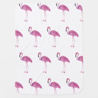 Manta Para Bebe Teste padrão do flamingo da aguarela em uma