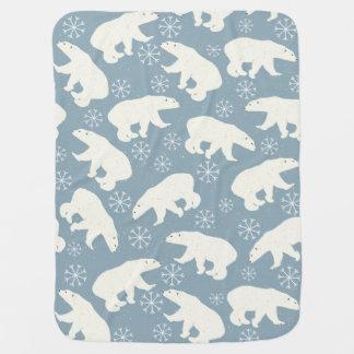 Manta Para Bebe Teste padrão sem emenda dos ursos polares do