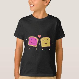 Manteiga e geléia de amendoim camiseta