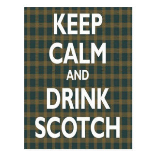 Mantenha a calma & beba escocês cartões postais