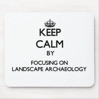 Mantenha a calma centrando-se sobre a arqueologia mouse pads