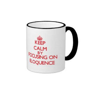 Mantenha a calma centrando-se sobre a ELOQUÊNCIA Canecas