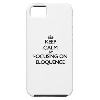 Mantenha a calma centrando-se sobre a ELOQUÊNCIA Capas iPhone 5