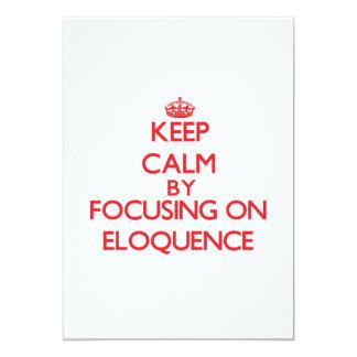 Mantenha a calma centrando-se sobre a ELOQUÊNCIA Convite