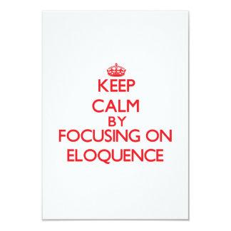 Mantenha a calma centrando-se sobre a ELOQUÊNCIA Convite Personalizados
