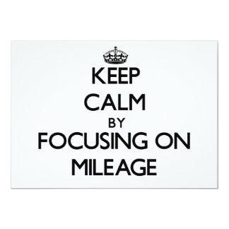 Mantenha a calma centrando-se sobre a milhagem convite 12.7 x 17.78cm