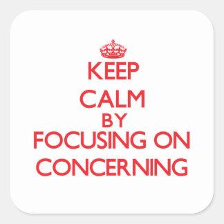 Mantenha a calma centrando-se sobre a referência adesivo