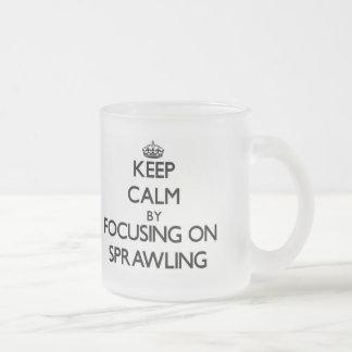 Mantenha a calma centrando-se sobre alastrar caneca