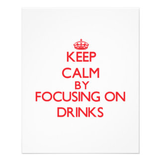 Mantenha a calma centrando-se sobre bebidas modelos de panfleto