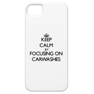 Mantenha a calma centrando-se sobre Carwashes Capas iPhone 5 Case-Mate