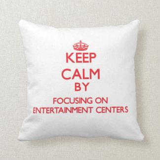 Mantenha a calma centrando-se sobre CENTROS de Travesseiros De Decoração