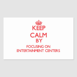 Mantenha a calma centrando-se sobre CENTROS de Adesivo Retangular