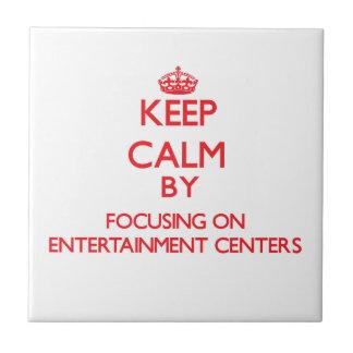 Mantenha a calma centrando-se sobre CENTROS de Azulejos