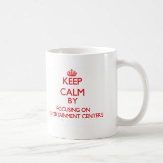 Mantenha a calma centrando-se sobre CENTROS de Canecas