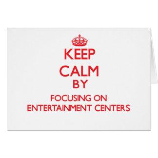 Mantenha a calma centrando-se sobre CENTROS de Cartao