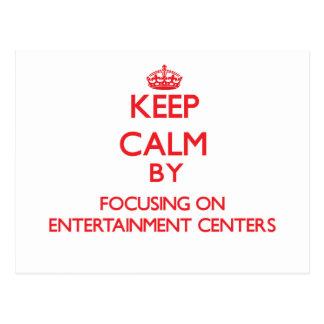 Mantenha a calma centrando-se sobre CENTROS de Cartoes Postais