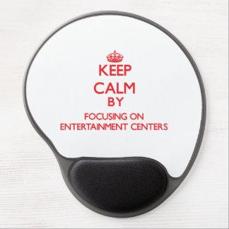 Mantenha a calma centrando-se sobre CENTROS de Mouse Pad De Gel