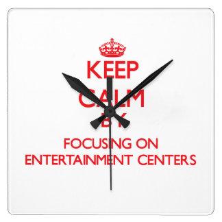 Mantenha a calma centrando-se sobre CENTROS de Relógios Para Paredes