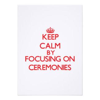 Mantenha a calma centrando-se sobre cerimónias convite
