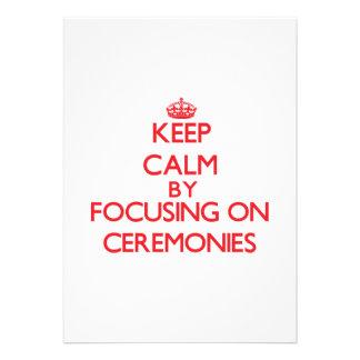 Mantenha a calma centrando-se sobre cerimónias convites
