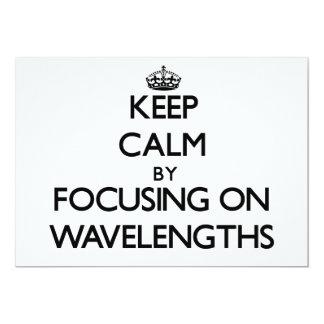 Mantenha a calma centrando-se sobre comprimentos convite 12.7 x 17.78cm