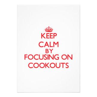 Mantenha a calma centrando-se sobre Cookouts Convite