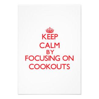 Mantenha a calma centrando-se sobre Cookouts Convite Personalizado