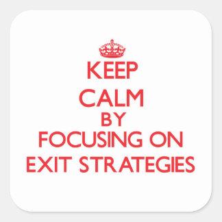 Mantenha a calma centrando-se sobre ESTRATÉGIAS de Adesivos Quadrados