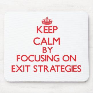Mantenha a calma centrando-se sobre ESTRATÉGIAS de