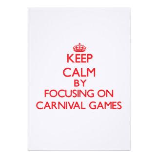 Mantenha a calma centrando-se sobre jogos do convite personalizado