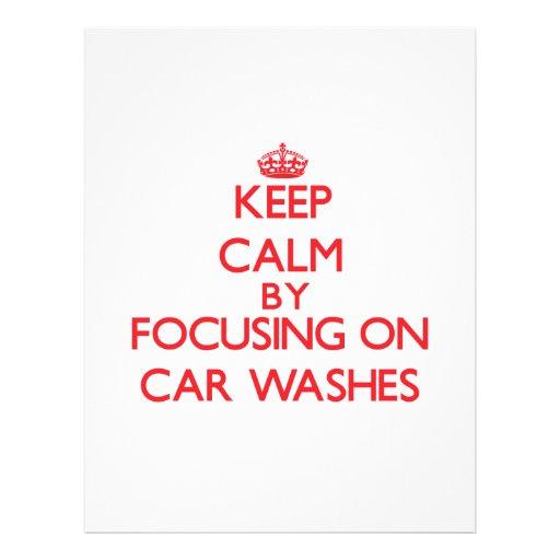 Mantenha a calma centrando-se sobre lavagens de panfleto personalizado