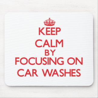 Mantenha a calma centrando-se sobre lavagens de