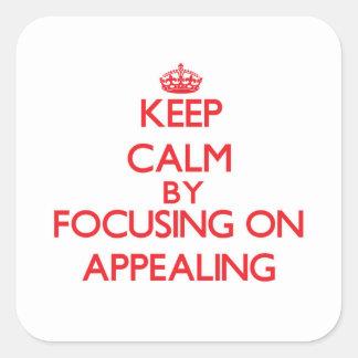 Mantenha a calma centrando-se sobre o apelo adesivos