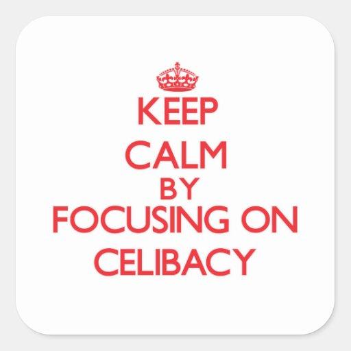 Mantenha a calma centrando-se sobre o celibato adesivos