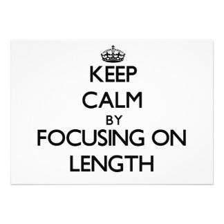 Mantenha a calma centrando-se sobre o comprimento convites personalizado