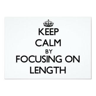 Mantenha a calma centrando-se sobre o comprimento convite 12.7 x 17.78cm