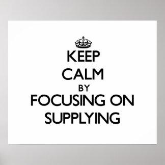 Mantenha a calma centrando-se sobre o fornecimento