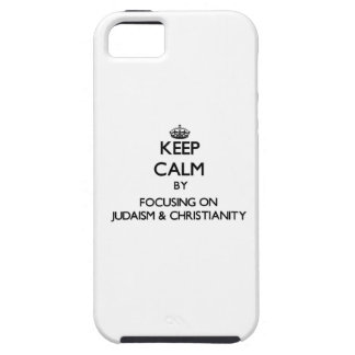 Mantenha a calma centrando-se sobre o judaísmo a capas iPhone 5