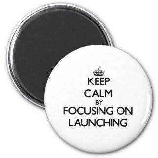 Mantenha a calma centrando-se sobre o lançamento