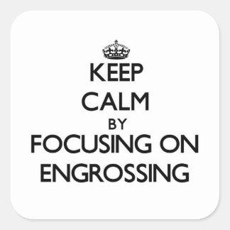 Mantenha a calma centrando-se sobre REDIGIR