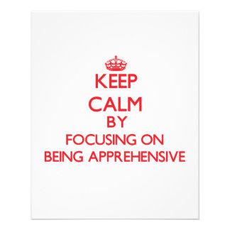 Mantenha a calma centrando-se sobre ser apreensivo panfleto personalizado