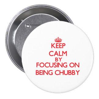 Mantenha a calma centrando-se sobre ser carnudo boton