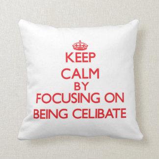 Mantenha a calma centrando-se sobre ser celibato travesseiros