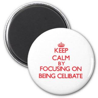 Mantenha a calma centrando-se sobre ser celibato imãs de refrigerador