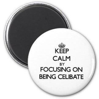 Mantenha a calma centrando-se sobre ser celibato imãs de geladeira