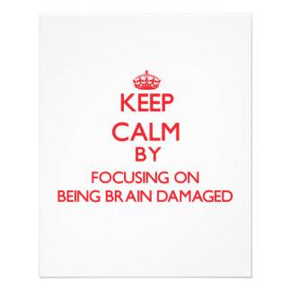 Mantenha a calma centrando-se sobre ser cérebro panfletos personalizados