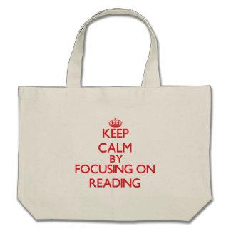 Mantenha a calma centrando-se sobre sobre a leitur bolsa para compra