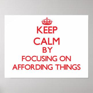 Mantenha a calma centrando-se sobre ter recursos poster