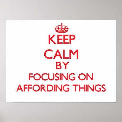 Mantenha a calma centrando-se sobre ter recursos
