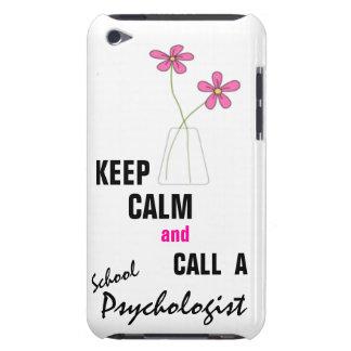 MANTENHA A CALMA & CHAME um ipod touch do psicólog Capa Para iPod Touch